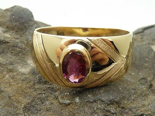 18 kt. Gold - Ring Tourmaline