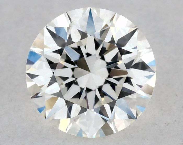 1 pcs Diamante - 0.23 ct - Brilhante, Redondo - G - VVS2, * 3EX * - LOW RESERVE