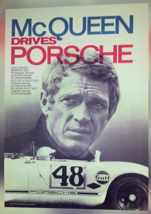 Cartaz - Mc QUEEN drives  - Porsche
