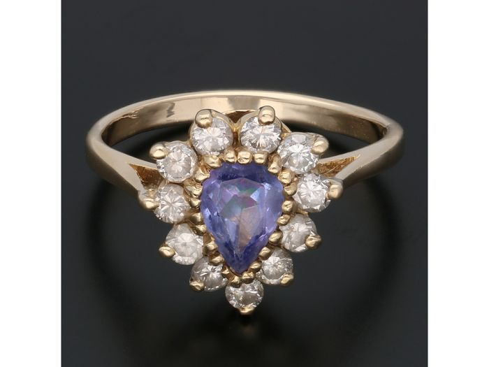 14 kt. Gold - Ring - 0.44 ct Tanzanite