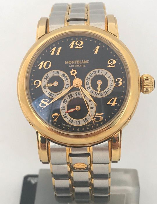 """Montblanc - Meisterstück Multifunction Automatic Dual Time - 7014 """"NO RESERVE PRICE"""" - Men - 2000-2010"""