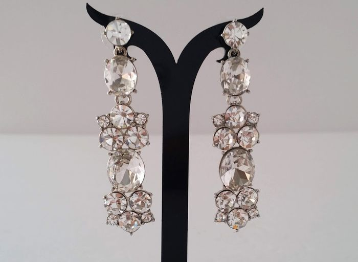 Givenchy Clear Crystal Dangle Earrings