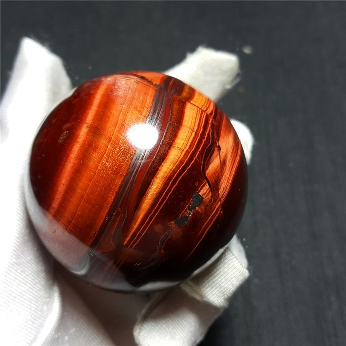 Natural red tiger eye ball Crystal - 50×50×50 mm - 187 g