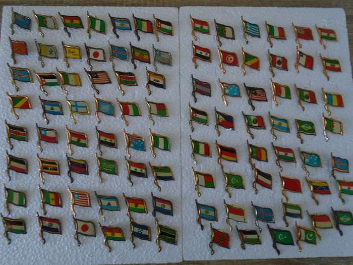 pins (84) - pins of flags of the countries of the whole world