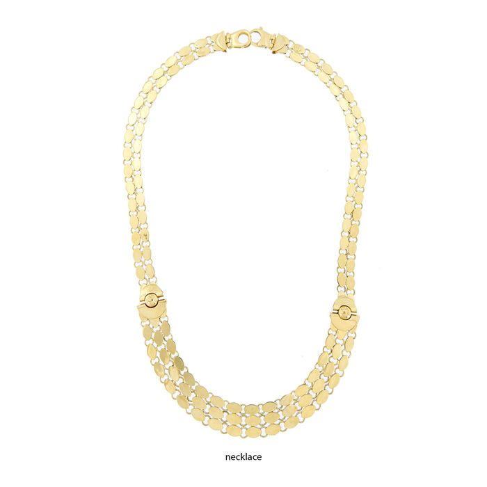 Made in Italy - 18 kt white and yellow gold - Bracelet and necklace set