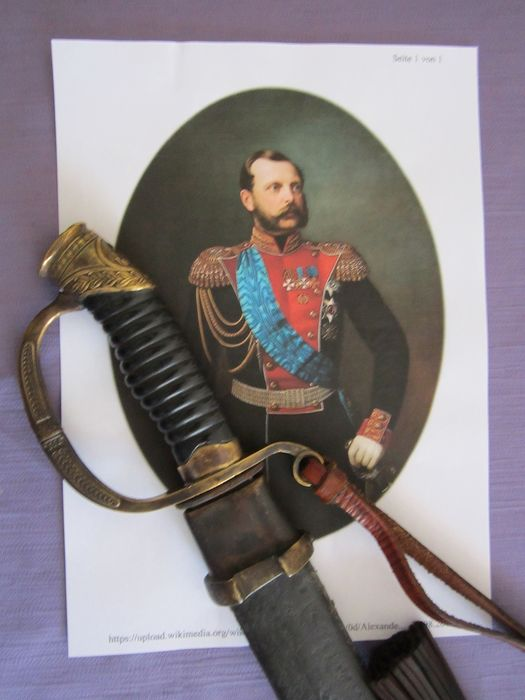 Russia - see marks - Russian officer - dragon sabre - Shashka M 1880 - from the reign of Alexander II. Nikolaevich - was the emperor of Russia from 1855 - 1818 - sabre