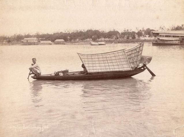 Gustave Richard Lambert (1846-1907)  - 17. Malay boat selling food