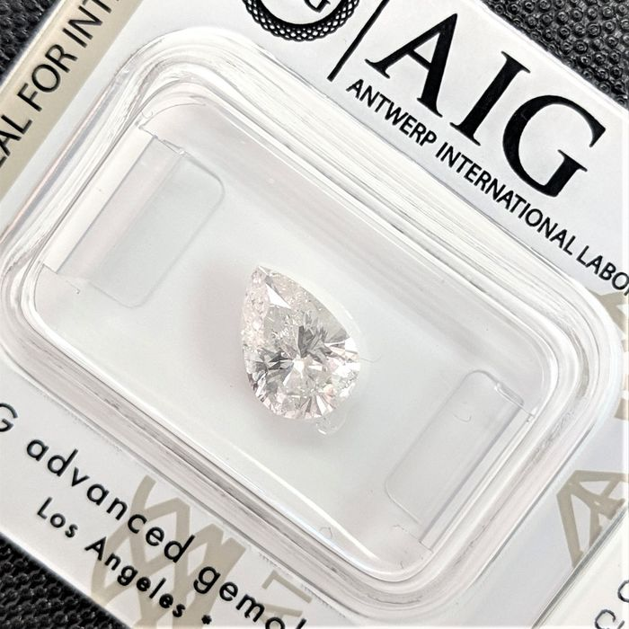 Diamond - 1.15 ct - Pear - E - SI2, No Reserve Price