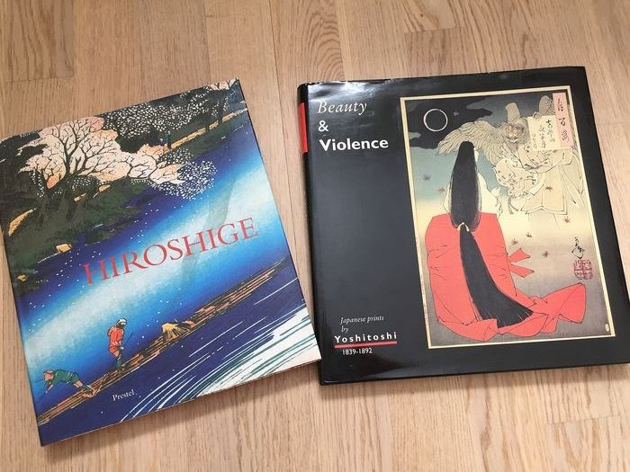 woodblock prints books; both in very good condition (2) - Hiroshige by Matthi Forrer; Prestel Munich New York; 1997 hard cover and Yoshitoshi; Eric van den - 19th century artists