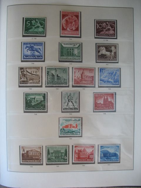 Duitse Rijk 1940/1945 - Collection without official stamps in preprint album