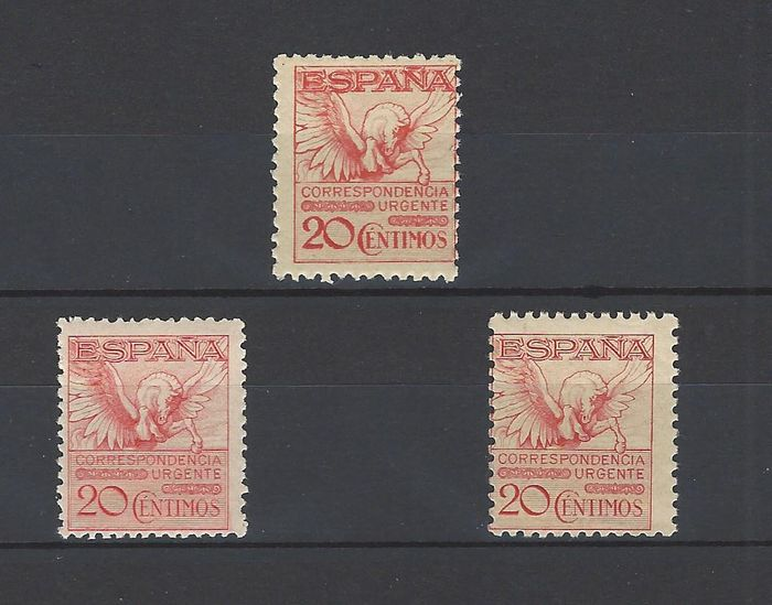 Spanje 1929/1932 - Group of Pegasus stamps - Edifil 454 + 592A + 676