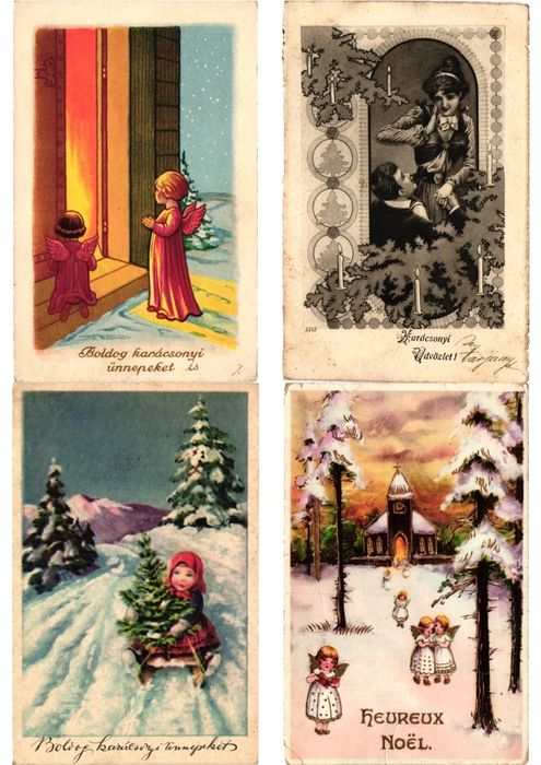 Christmas, Fantasy - Postcards (Collection of 48) - 1902