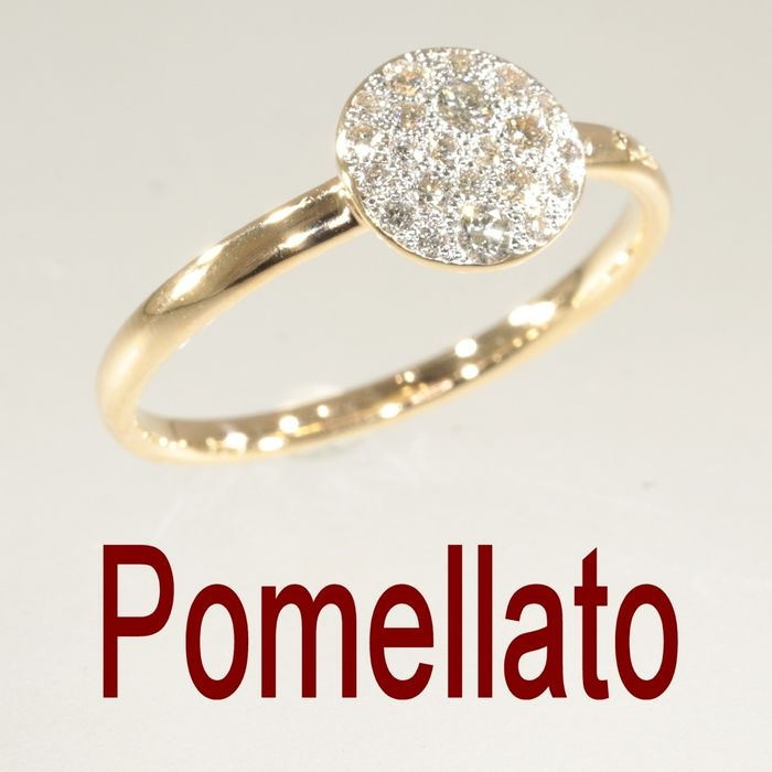 Pomellato - 18 kt. Yellow gold - Ring - Diamonds TDW 0.40 ct - NO RESERVE PRICE