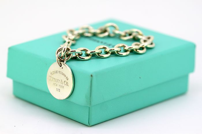 Tiffany - 925 Silver - Bracelet with pendant