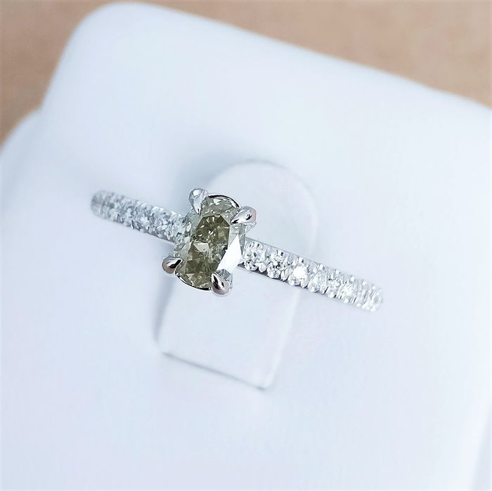 18 quilates Oro blanco - Anillo - 0.38 ct Diamante - Diamantes