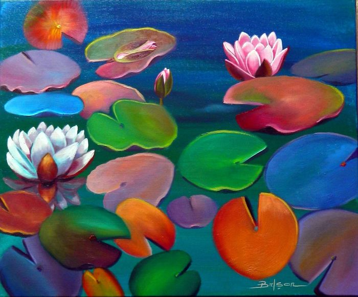Sage- Brisan Gabriel - Lake with lilies