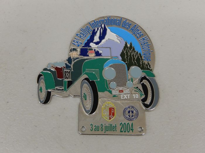 Badge - 48th Rally International Des Alpes Historique Car Badge Auto Emblem - 2004