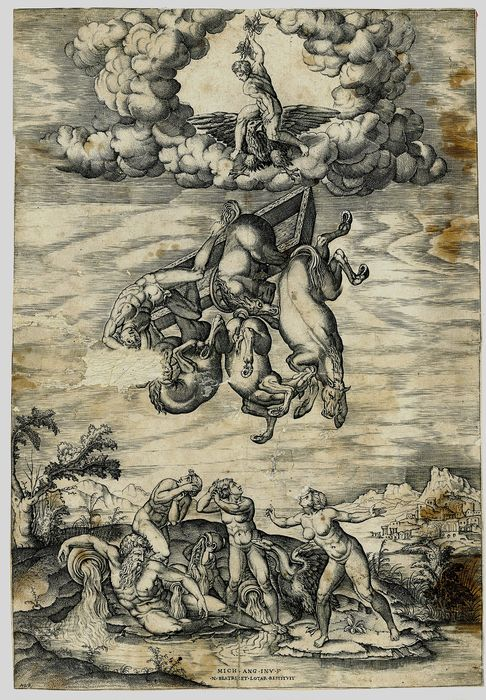Nicolas Beatrizet, after Michelangelo - The Fall of Phaeton
