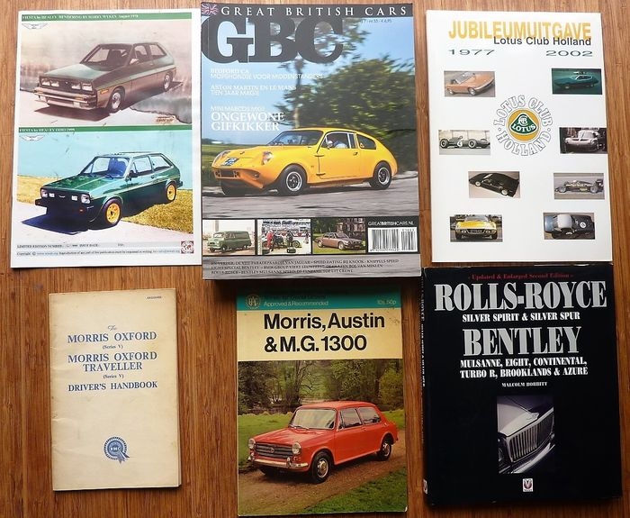 Books - British Cars - Lotus, Healey, Rolls-Royce, Bentley, Ford, Morris, Austin, MG  e.a. - 1960-2014
