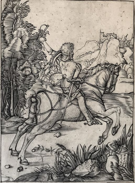 From Albrecht Durer (1471-1528) - 'Il piccolo corriere' 1496