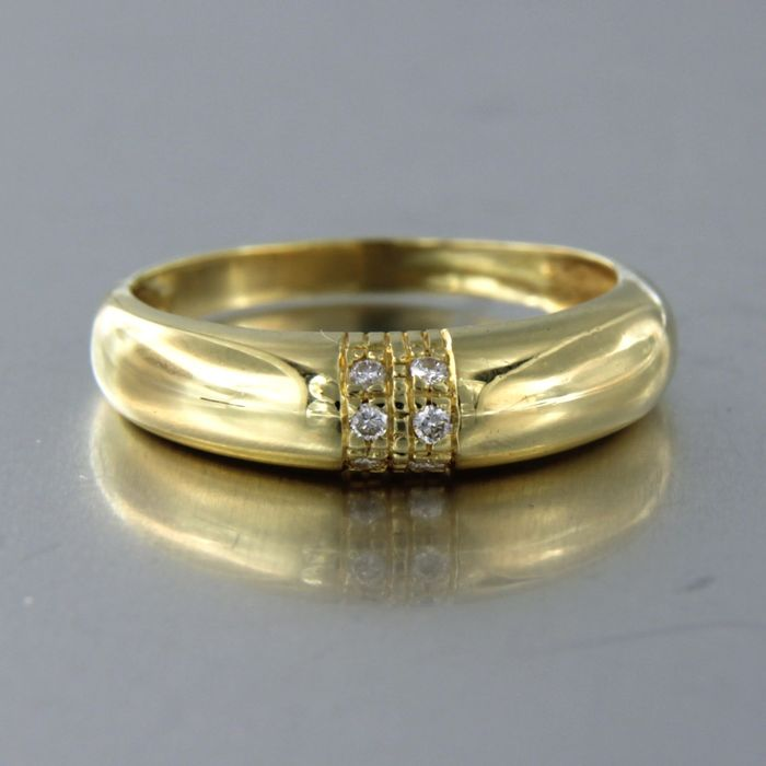 18 kt. Yellow gold - Ring - 0.05 ct Diamond