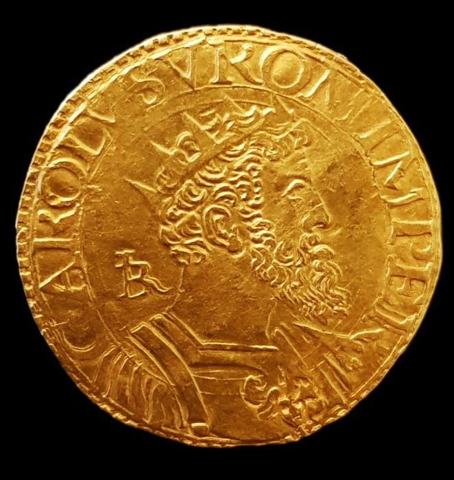 Italy - Kingdom of Naples - CARLO V - Doppia da DUE scudi - Sigla IBR - Gold