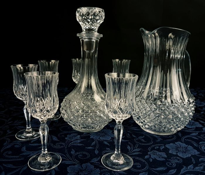 Cristal D'Arques Longchamp - service in French Crystal XX Sec. (8) - Crystal