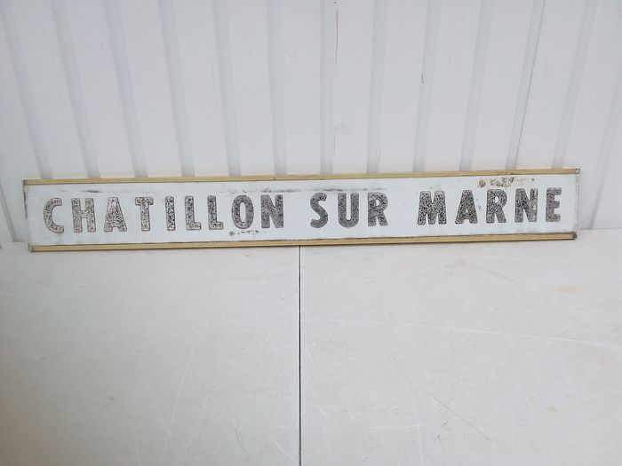 Signboard municipality of chatillon sur marne. - bord gemeente - 1970