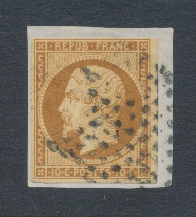 Francia 1852 - 10c on a letter piece/fragment - Yvert 9