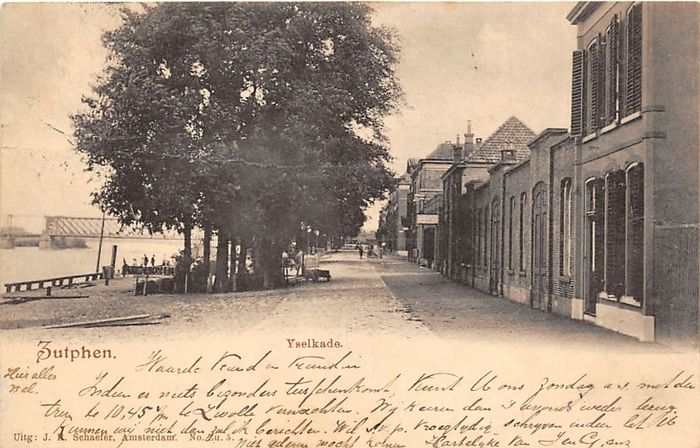 Zutphen with beautiful street views - 65x postcards - period: 1900-1960