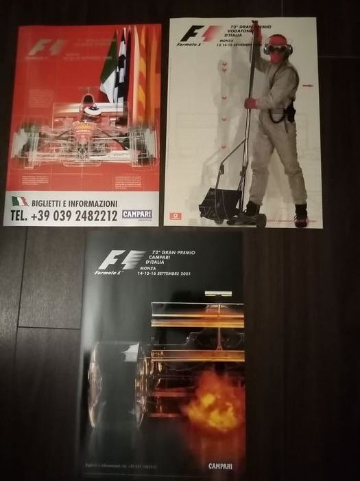 "Poster - ""F1 - 2000/2001/2002"" - 2000-2002"