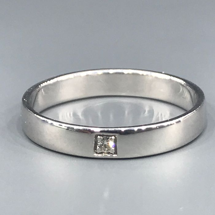18 kt. White gold - Ring / Faith - 0.02 ct Diamond