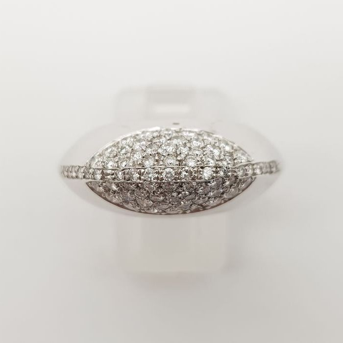 HRD NO RESERVE PRICE - 18 kt. White gold - Ring - 0.40 ct Diamond