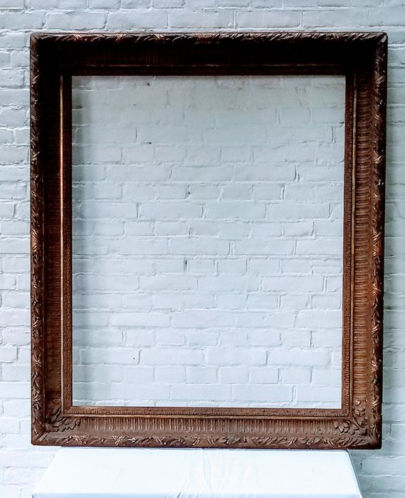 Antique wooden frame - wood and plaster