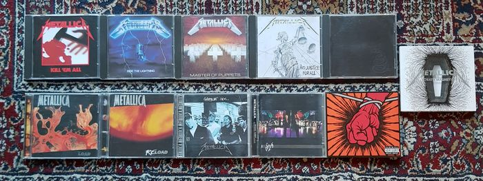 Metallica - Kill 'em all, Ride the lightning, Master of puppets, ...and justice for all, Black Album (same), - Multiple titles - CD, CD's, Limited box set - 1980/2008
