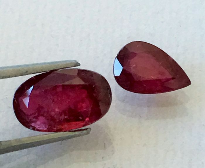 2 pcs Red Ruby - 2.23 ct