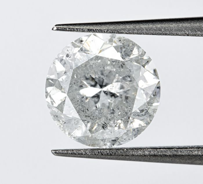 Diamant - 1.50 ct - Natural White - G color - I2  *NO RESERVE*
