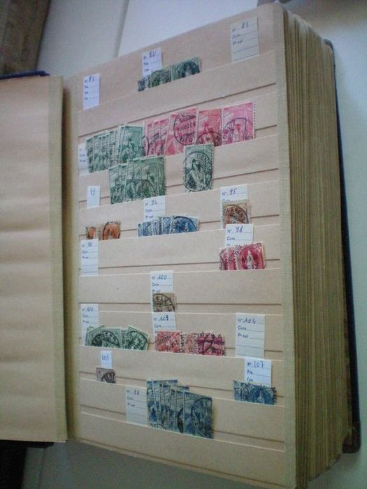 Zwitserland 1882/1976 - Merchant stock of hundreds of cancelled Swiss stamps including from the classic period