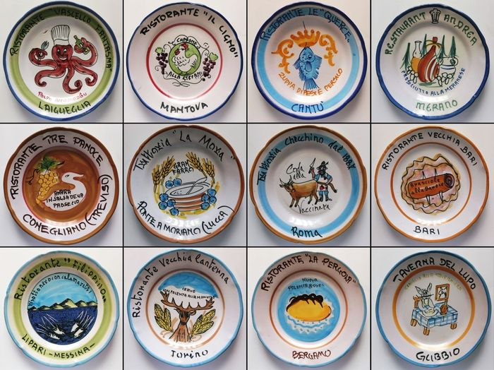 Ceramica Artistica Solimene Vietri Italia - Good memories dishes (12) - Hand painted ceramic
