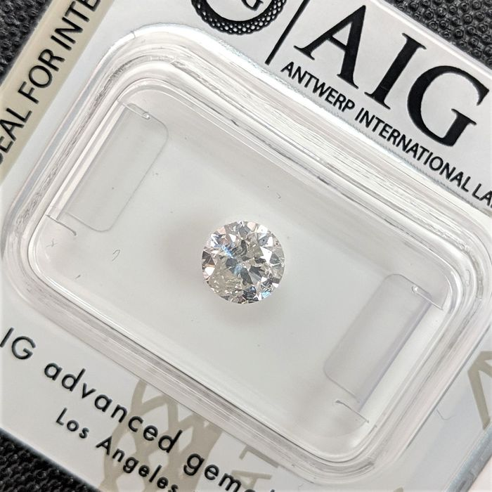 Diamond - 0.60 ct - Brilliant - I - I2, No Reserve Price
