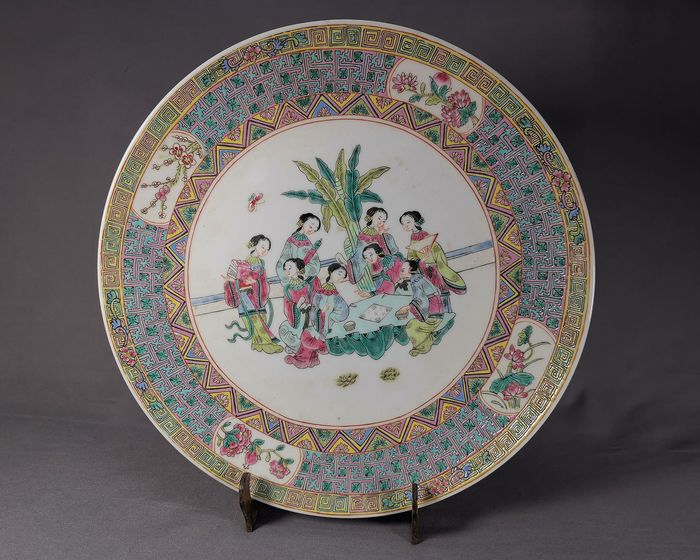 Plate (1) - Porcelain - China - Second half 20th century