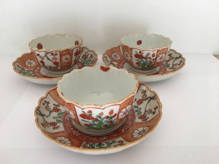 Tea set (6) - Porcelain - China - Kangxi (1662-1722)