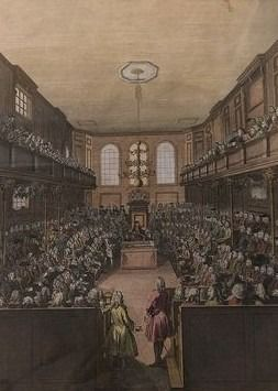 Two prints - Benjamin Cole - A view of the House of Peers/a view of the House of Commons