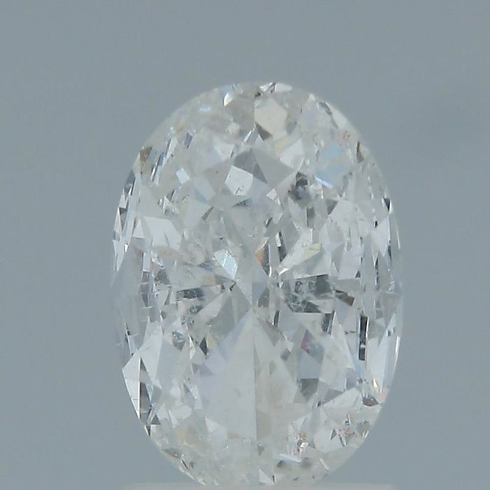 1 pcs Diamant - 1.02 ct - Ovaal - E - SI2
