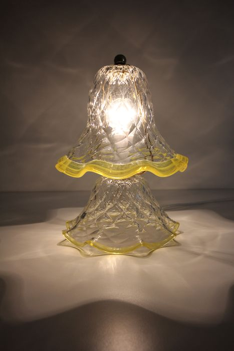 Murano glass table lamp - Murano glass and brass