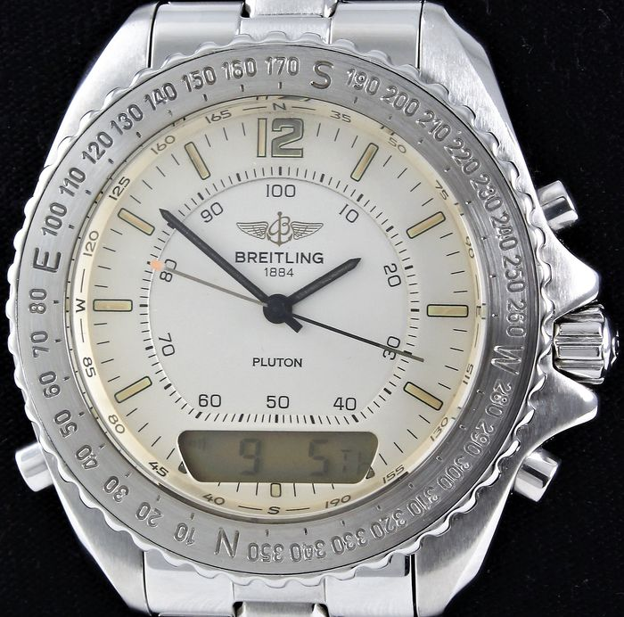 Breitling - PLUTON PROFESSIONAL - Swiss Glory - Ref. No: A51038 - Excellent Condition - Warranty - Men - 1990-1999
