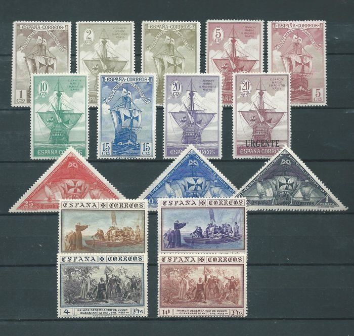 Spain 1930 - Discovery of America. Complete set - Edifil 531/546