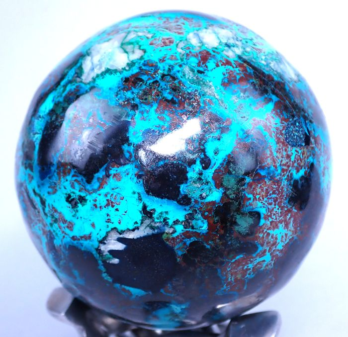 Amazing chrysocolla Sphere - 86.82×86.82×86.82 mm - 851 g