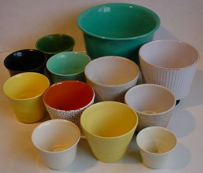 Lot of 12 ADCO flower pots, small and large - Ceramic
