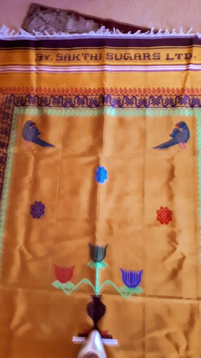 INDIA - tablecloth (1) - folk art - cotton, wool, silk